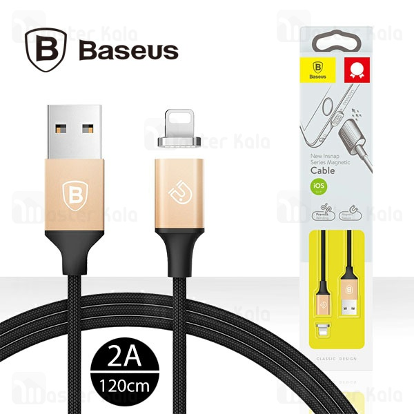 کابل لایتنینگ مغناطیسی بیسوس Baseus New Insnap Magnetic Cable