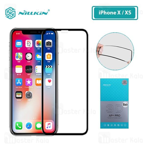 محافظ صفحه شیشه ای تمام صفحه نیلکین Apple iPhone X / XS Nillkin 3D AP+ Pro