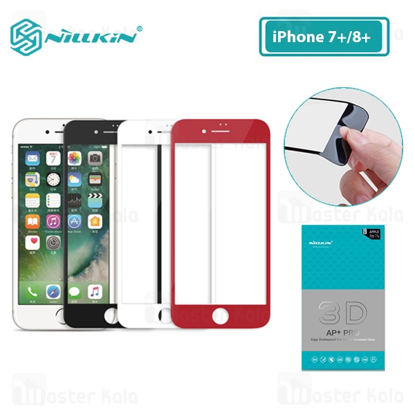 محافظ صفحه شیشه ای تمام صفحه نیلکین Apple iPhone 7 Plus / 8 Plus Nillkin 3D AP+ Pro