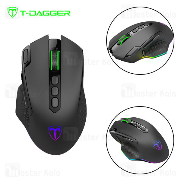موس وایرلس گیمینگ T-Dagger Darkangel T-TGWM308 Gaming Wireless Mouse دارای 8 کلید