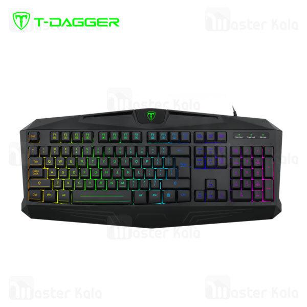 کیبورد سیمی گیمینگ T-Dagger Tanker T-TGK202 Gaming Keyboard RGB Backlight