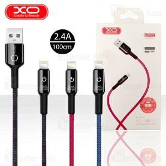 کابل لایتنینگ ایکس او XO NB102 Cable توان 2.4 آمپر و دارای قطع کن خودکار