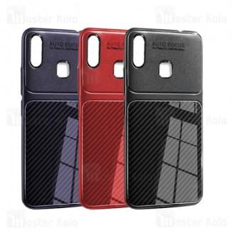 قاب ژله ای طرح چرم فیبر کربنی Samsung Galaxy M20 Auto Focus Fiber Carbon