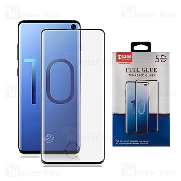 محافظ صفحه شیشه ای تمام صفحه و تمام چسب Samsung Galaxy S10 Mocoson با برش اثرانگشت