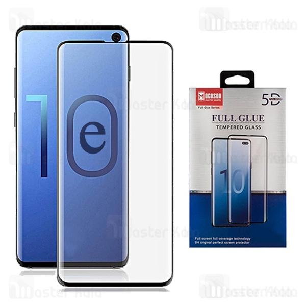 محافظ صفحه شیشه ای تمام صفحه و تمام چسب Samsung Galaxy S10e Mocoson