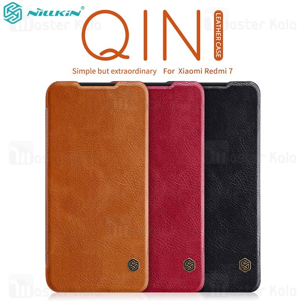 کیف چرمی نیلکین شیائومی Xiaomi Redmi 7 Nillkin Qin Leather Case