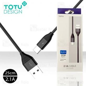 کابل Type C توتو TOTU BTA-04 Fruitful توان 2.1 آمپر و طول 25 سانتی متر