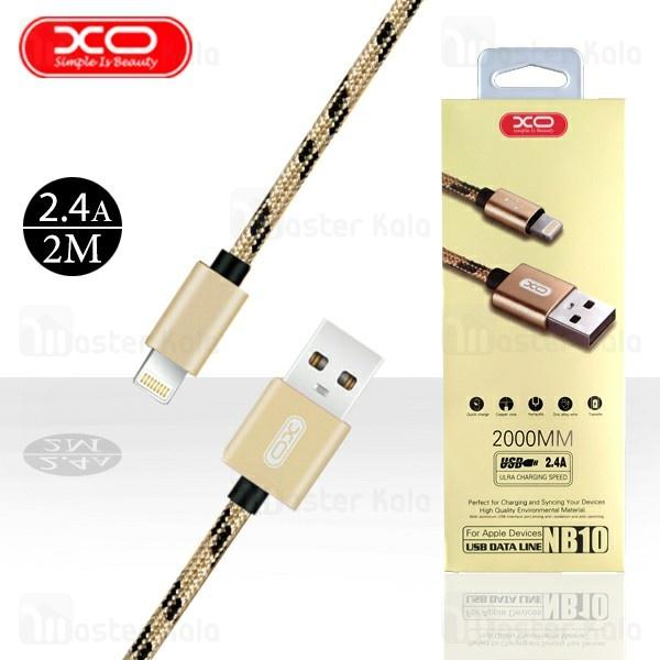 کابل لایتنینگ ایکس او XO NB10 Cable توان 2.4 آمپر و طول 2 متر