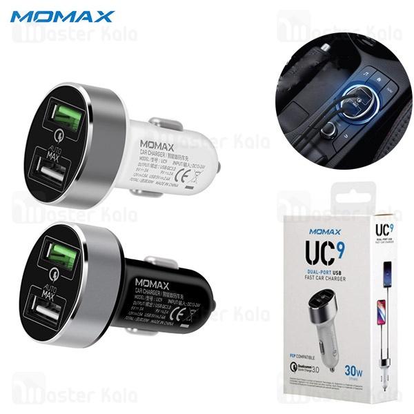 شارژر فندکی فست شارژ مومکس Momax UC9 QC 3.0 دو پورت