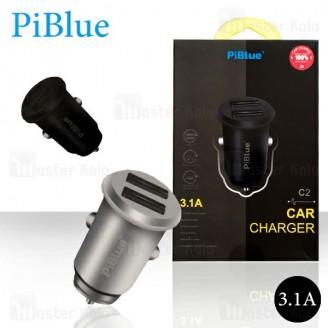 شارژر فندکی پی بلو Piblue C2 Car Charger توان 3.1 آمپر