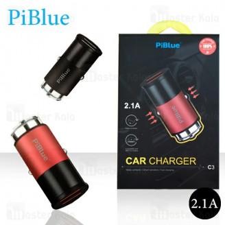 شارژر فندکی پی بلو Piblue C3 Car Charger توان 2.1 آمپر