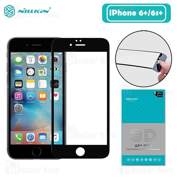 محافظ صفحه شیشه ای تمام صفحه نیلکین Apple iPhone 6 Plus / 6s Plus Nillkin 3D AP+ Pro