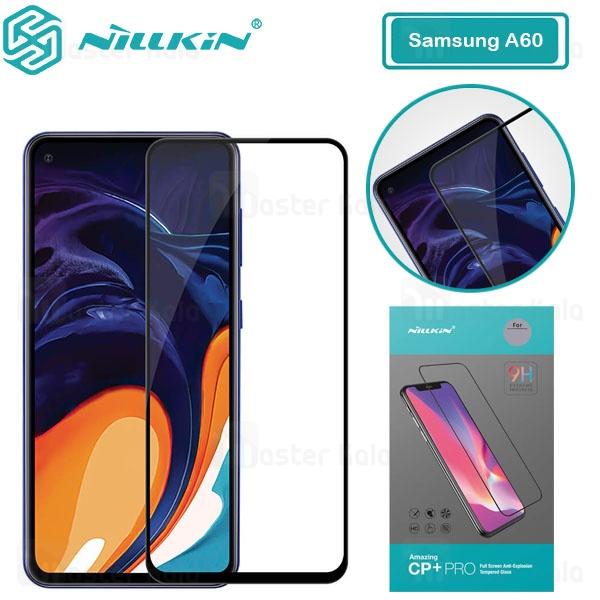 محافظ صفحه شیشه ای تمام صفحه تمام چسب نیلکین Samsung Galaxy A60 Nillkin CP+ Pro