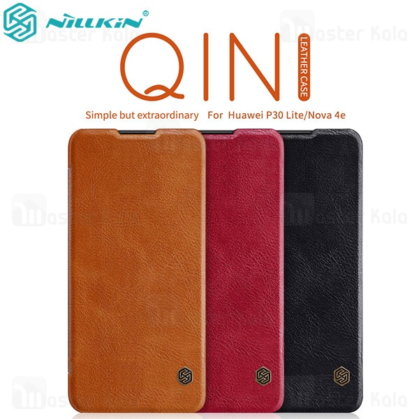 کیف چرمی نیلکین هواوی Huawei P30 Lite / Nova 4e Nillkin Qin Leather Case