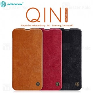 کیف چرمی نیلکین سامسونگ Samsung Galaxy A40 / A405 Nillkin Qin Leather Case