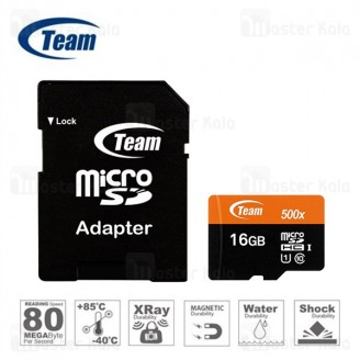کارت حافظه میکرو اس دی 16 گیگابایت تیم گروپ TeamGruop 600x 80MBs UHS-I 16GB