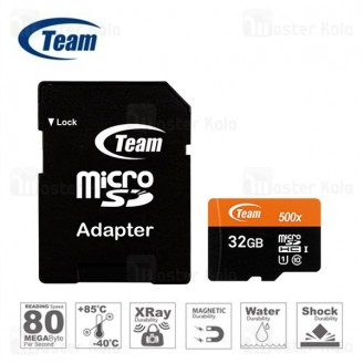 کارت حافظه میکرو اس دی 32 گیگابایت تیم گروپ TeamGruop 600x 80MBs UHS-I 32GB