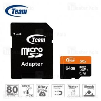 کارت حافظه میکرو اس دی 64 گیگابایت تیم گروپ TeamGruop 600x 80MBs UHS-I 64GB