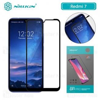 محافظ صفحه شیشه ای تمام صفحه تمام چسب نیلکین Xiaomi Redmi 7 Nillkin CP+ Pro