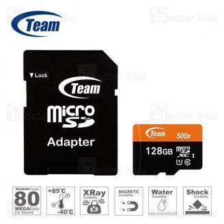کارت حافظه میکرو اس دی 128 گیگابایت تیم گروپ TeamGruop 600x 80MBs UHS-I 128GB