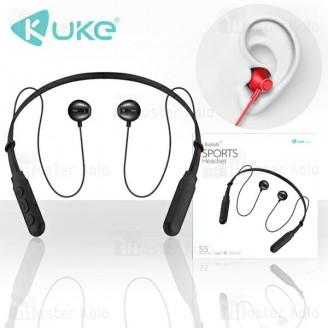 هندزفری بلوتوث KUKE S5 Sport Headset طراحی مگنتی با سری های ایرپادی
