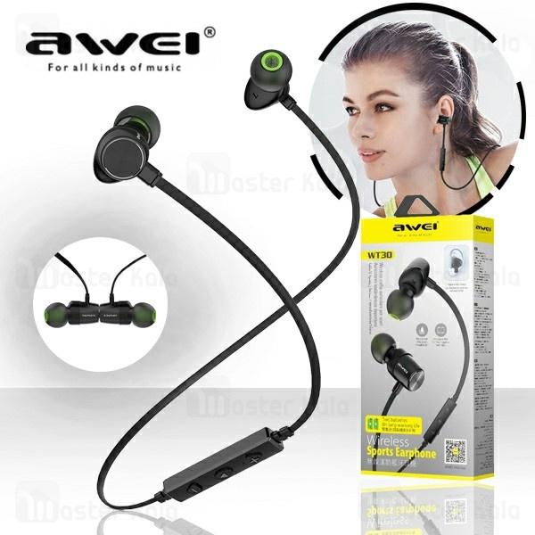 هندزفری بلوتوث اوی AWEI WT30 Wireless Earphone طراحی مگنتی و ضد تعریق