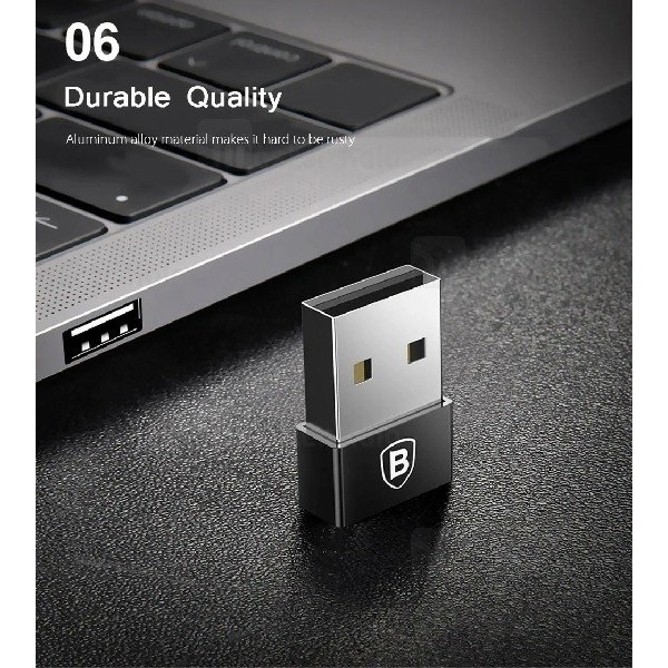تبدیل Type C به USB بیسوس Baseus Exquisite USB to Type-C Converter CATJQ-A01