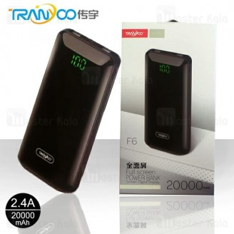 پاوربانک 20000 میلی آمپر ترانیو Tranyoo F6 Power Bank با پورت Type C