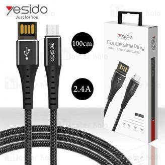 کابل میکرو یو اس بی یسیدو Yesido CA34 Micro USB Cable توان 2.4 آمپر