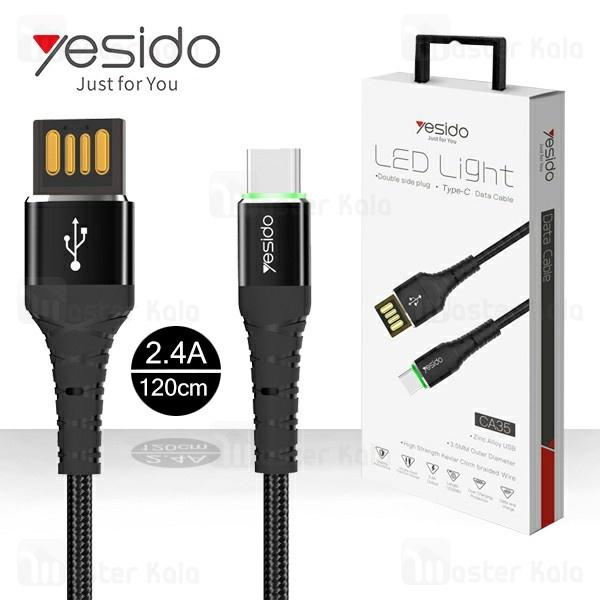 کابل Type C یسیدو Yesido CA35 Data Cable توان 2.4 آمپر و طول 1.2 متر