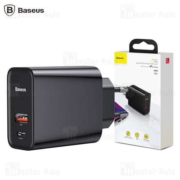 شارژر دیواری دو پورت Baseus Speed PPS QC3.0 CCFS-C01 30W با پورت تایپ سی