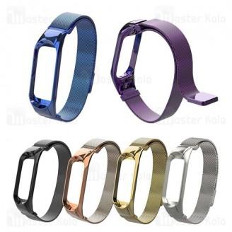 بند فلزی دستبند سلامتی شیائومی Xiaomi Mi Band 3 Milanese Strap
