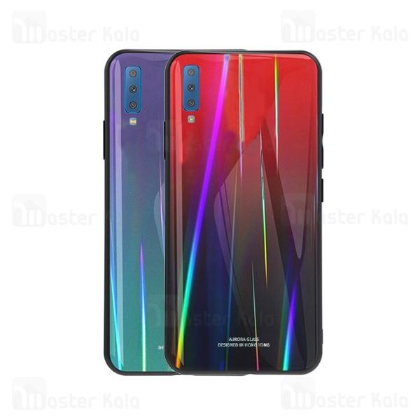 قاب لیزری رنگین کمانی سامسونگ Samsung Galaxy A7 2018 Aurora Laser Case