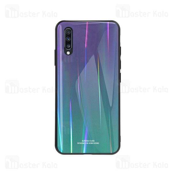 قاب لیزری رنگین کمانی سامسونگ Samsung Galaxy A70 Aurora Laser Case