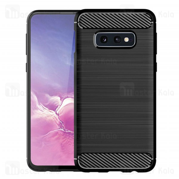 قاب محافظ ژله ای سامسونگ Samsung Galaxy S10e Fiber Carbon Rugged Armor