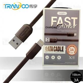 کابل لایتنینگ ترانیو Tranyoo X9 Data Cable با توان 3 آمپر و طول 1 متر