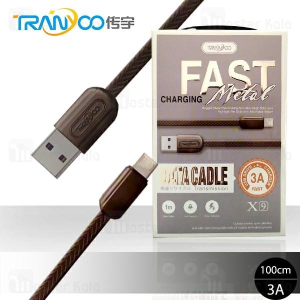 کابل میکرو یو اس بی ترانیو Tranyoo X9 Data Cable با توان 3 آمپر و طول 1 متر