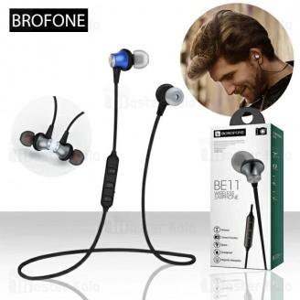 هندزفری بلوتوث بروفون Borofone BE11 Wireless Magnetic Earphone طراحی مگنتی
