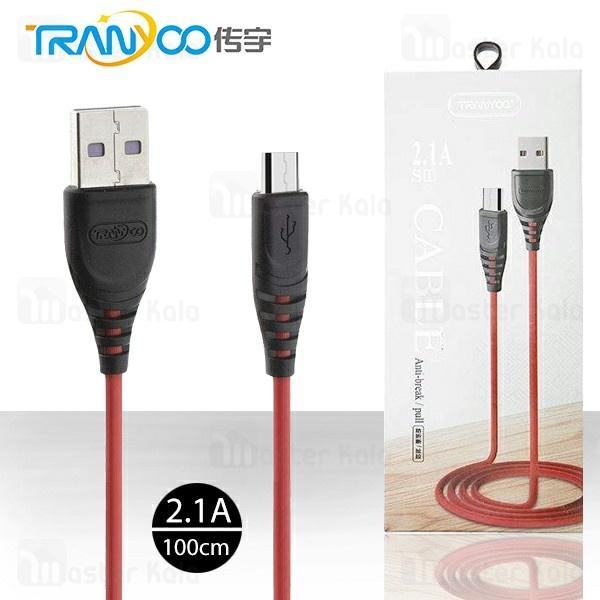 کابل میکرو یو اس بی ترانیو Tranyoo S1-V Cable توان 2.1 آمپر و طول 1 متر