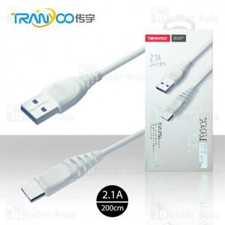 کابل Type C ترانیو Tranyoo S2-C Cable توان 2.1 آمپر و طول 2 متر