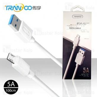 کابل میکرو یو اس بی ترانیو Tranyoo X6 Cable توان 5 آمپر و طول 1 متر