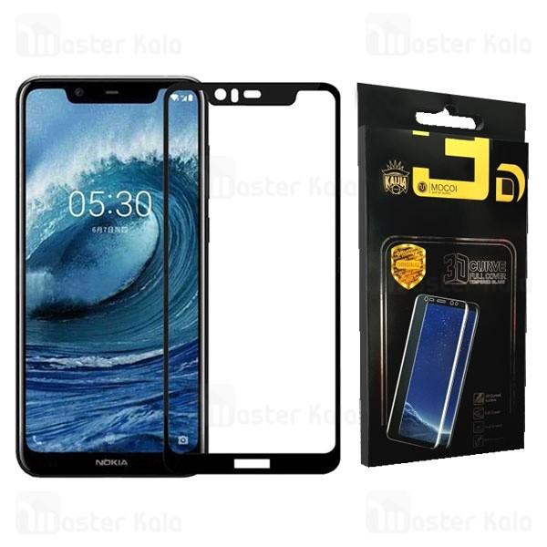 محافظ صفحه شیشه ای تمام صفحه تمام چسب نوکیا Nokia 5.1 Plus / X5 Mocol Glass