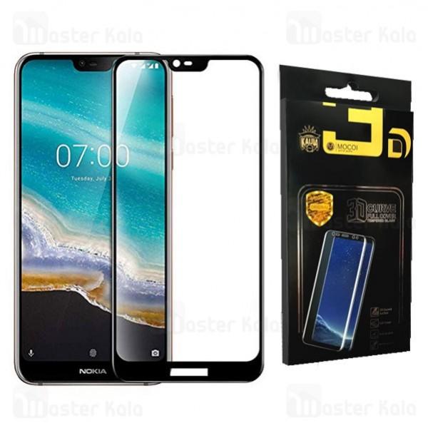 محافظ صفحه شیشه ای تمام صفحه تمام چسب نوکیا Nokia 7.1 2018 Mocol Glass