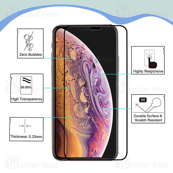محافظ صفحه شیشه ای تمام صفحه تمام چسب آیفون Apple iPhone 11 Mocol 10D Glass