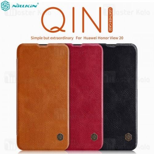 کیف چرمی نیلکین هواوی Huawei Honor View 20 Nillkin Qin Leather Case