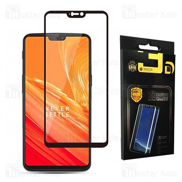 محافظ صفحه شیشه ای تمام صفحه تمام چسب وان پلاس OnePlus 6 / A6000 Mocol Glass