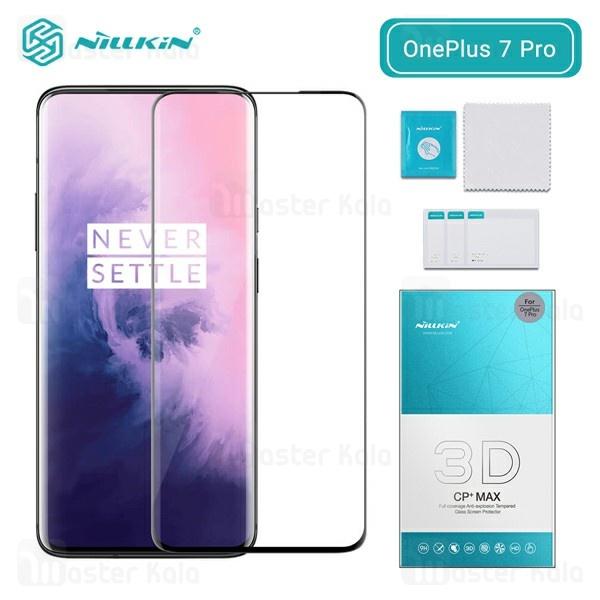 محافظ صفحه شیشه ای تمام صفحه نیلکین وان پلاس Oneplus 7 Pro / OnePlus 7T Pro 3D CP+ Max