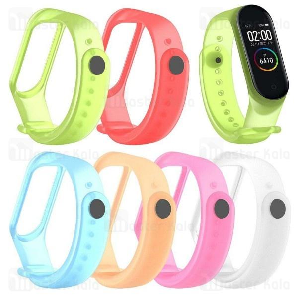 بند سیلیکونی دستبند سلامتی شیائومی Xiaomi Mi Band 4 Transparent Silicone Band شفاف