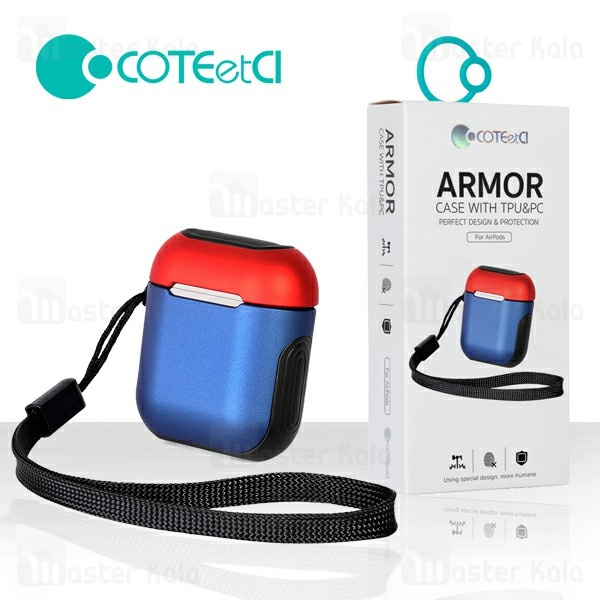 کاور محافظ ایرپاد کوتتسی Coteetci CS8123 / AP8 Armor Case For Airpods