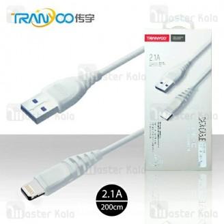 کابل لایتنینگ ترانیو Tranyoo S2 Cable توان 2.1 آمپر و طول 2 متر